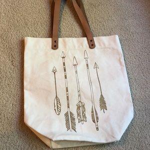Canvas Arrow Tote Bag